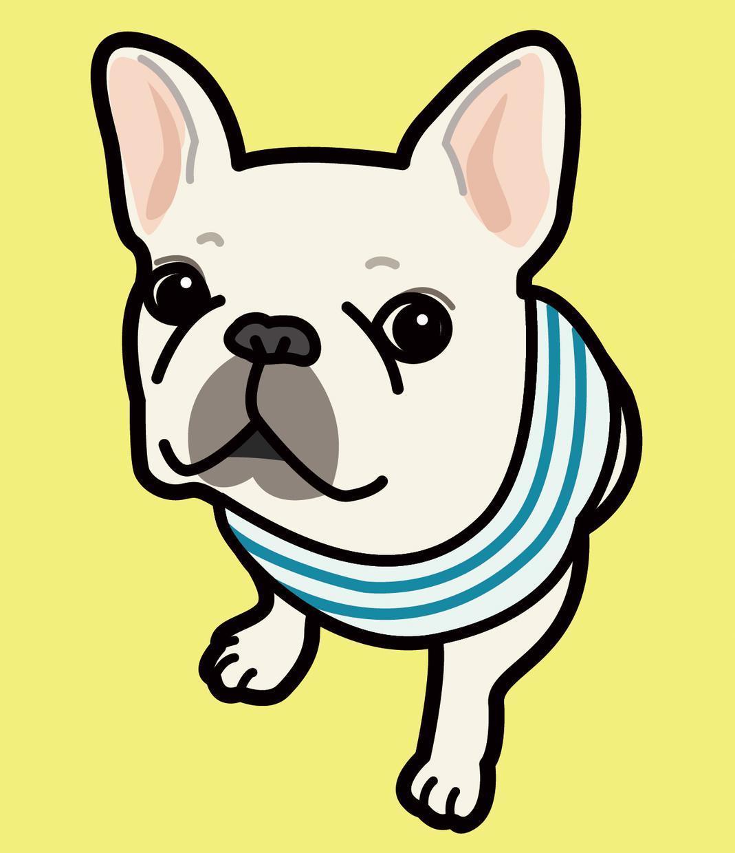 シンプルなタッチでペットの似顔絵を描きます あなたのかわいいペットをイラストにしてかわいさをアピール!