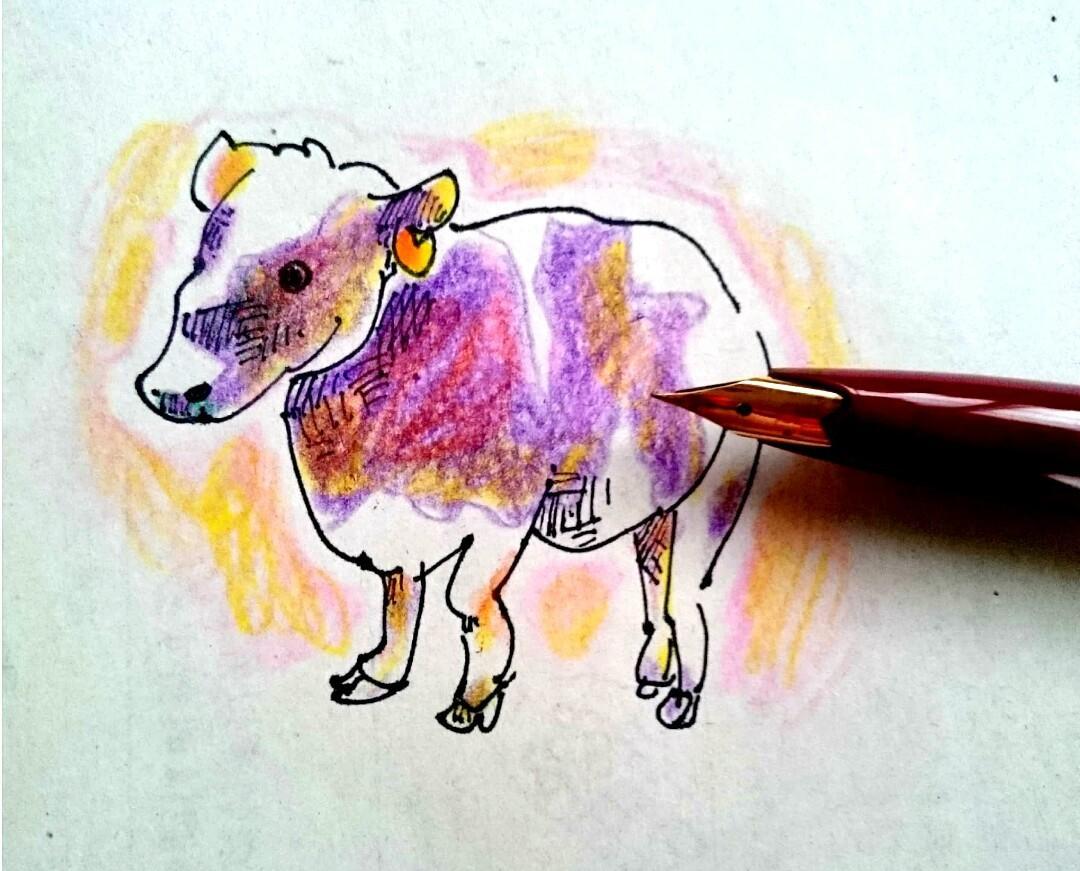 万年筆&色鉛筆☆あったかゆるふわアニマル描きます あなたのペットや好きな動物が優しい絵柄でかわいく変身♪