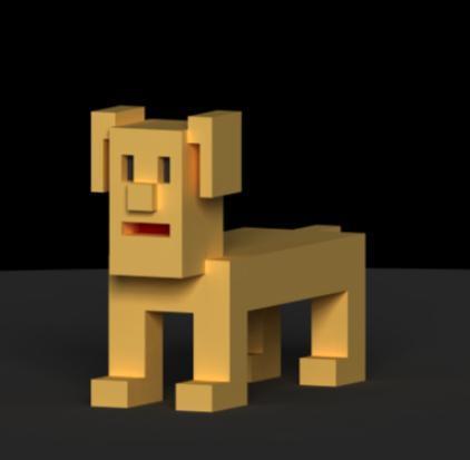 ボクセルモデリングのキャラクターを作成します SNSのアイコン画像に、もしくは3Dゲーム素材に、用途色々★
