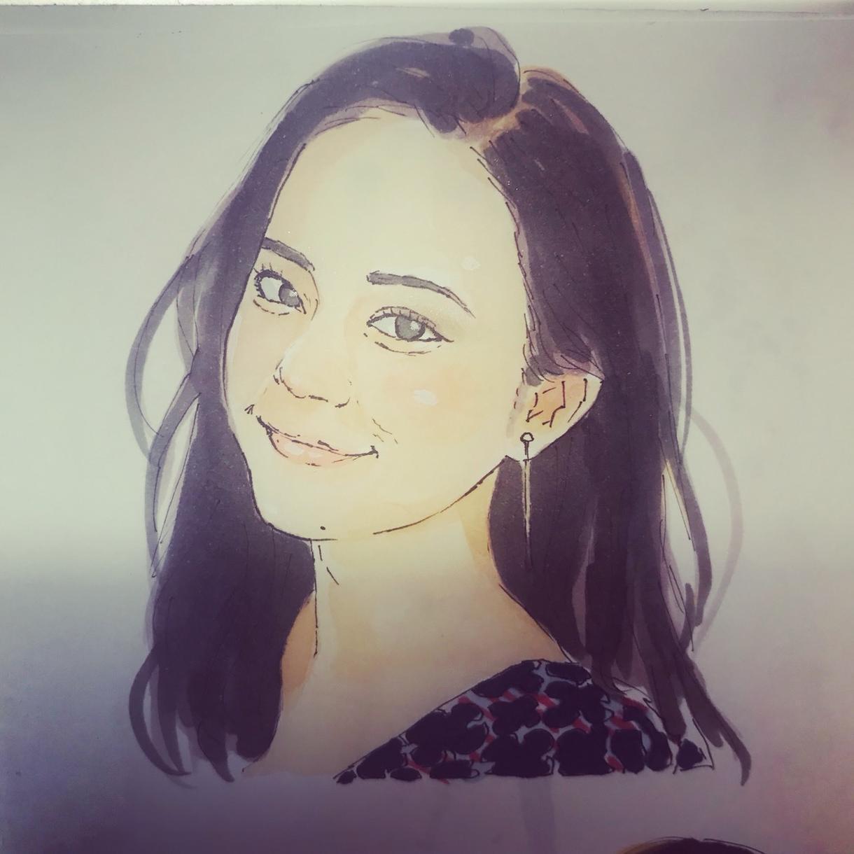 写真から似顔絵を手描きで描きます 自己紹介プロフィールやSNSのアイコンにオススメ!