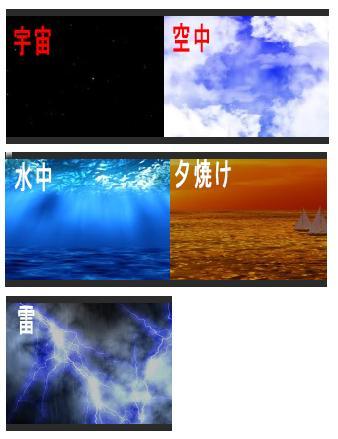 SF映画風 流れるテロップ動画 背景色々で作ります 宇宙 海 空 夕暮れ 雷 背景色々