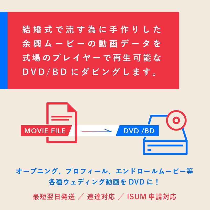 結婚式用の動画データをDVD化!ISUM対応します 最短翌日発送!速達対応!ISUM(アイサム)申請対応! イメージ1
