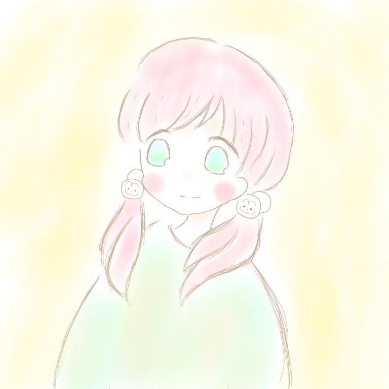 ゆるふわアイコン描きます 淡い色を使った可愛い女の子らしいイラスト❁*.