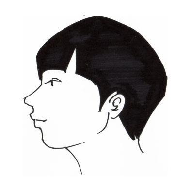 横顔、描きます。