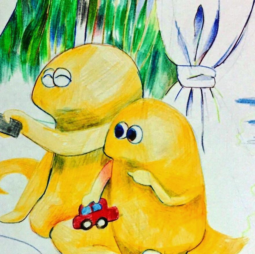 小さいお子さん向け かわいいイラスト描きます かわいくてずっと一緒にいたい、愛らしいキャラクターを描きます
