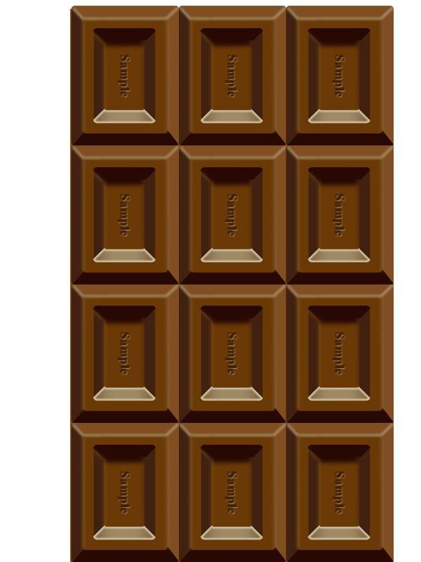 板チョコ風ロゴ作ります リアルな板チョコなイラストにお好きな文字を入れてお届け