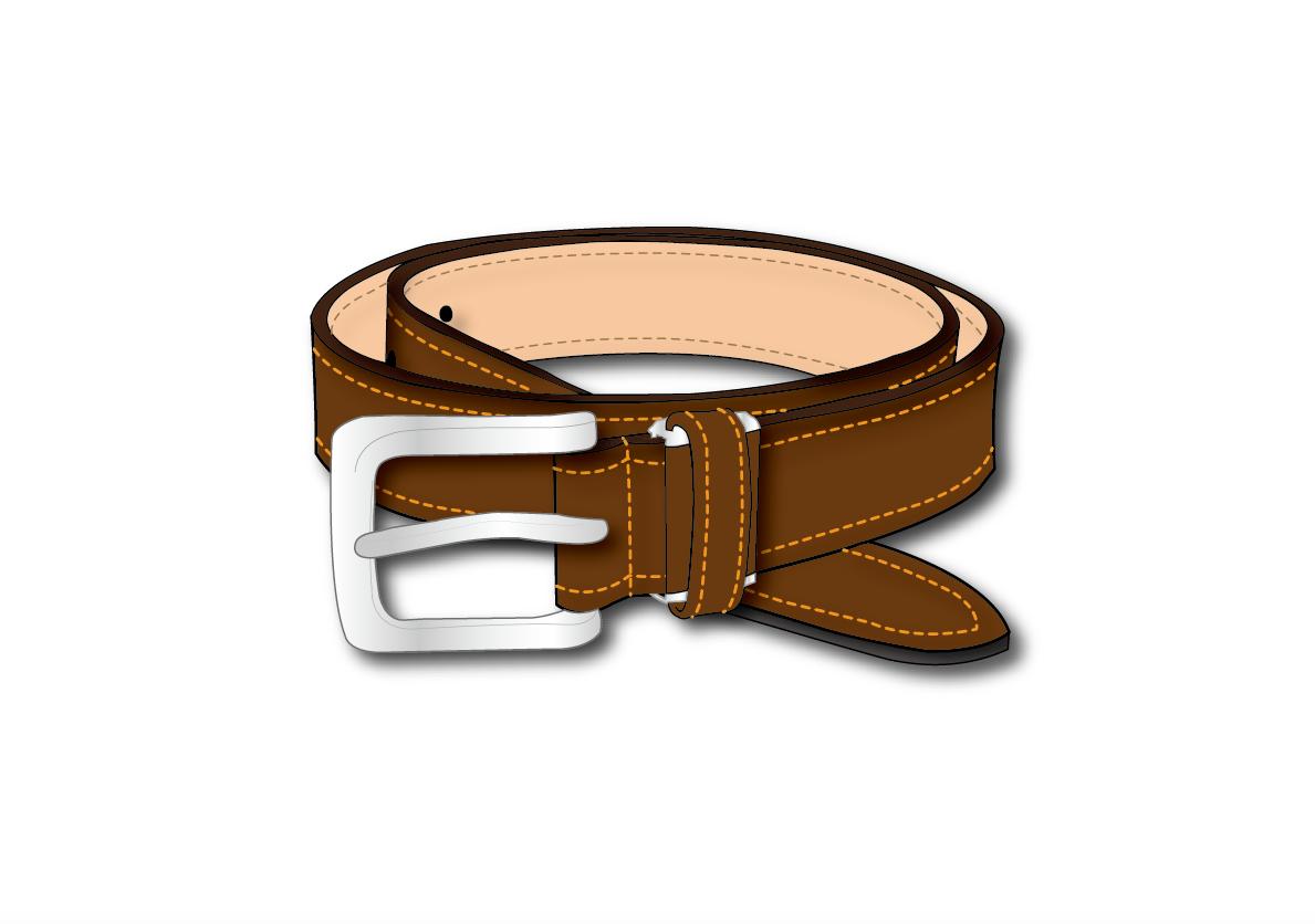 ベルト(紳士、レディース)描きます ベルト(バックル)メンズレディース問わずデザインします