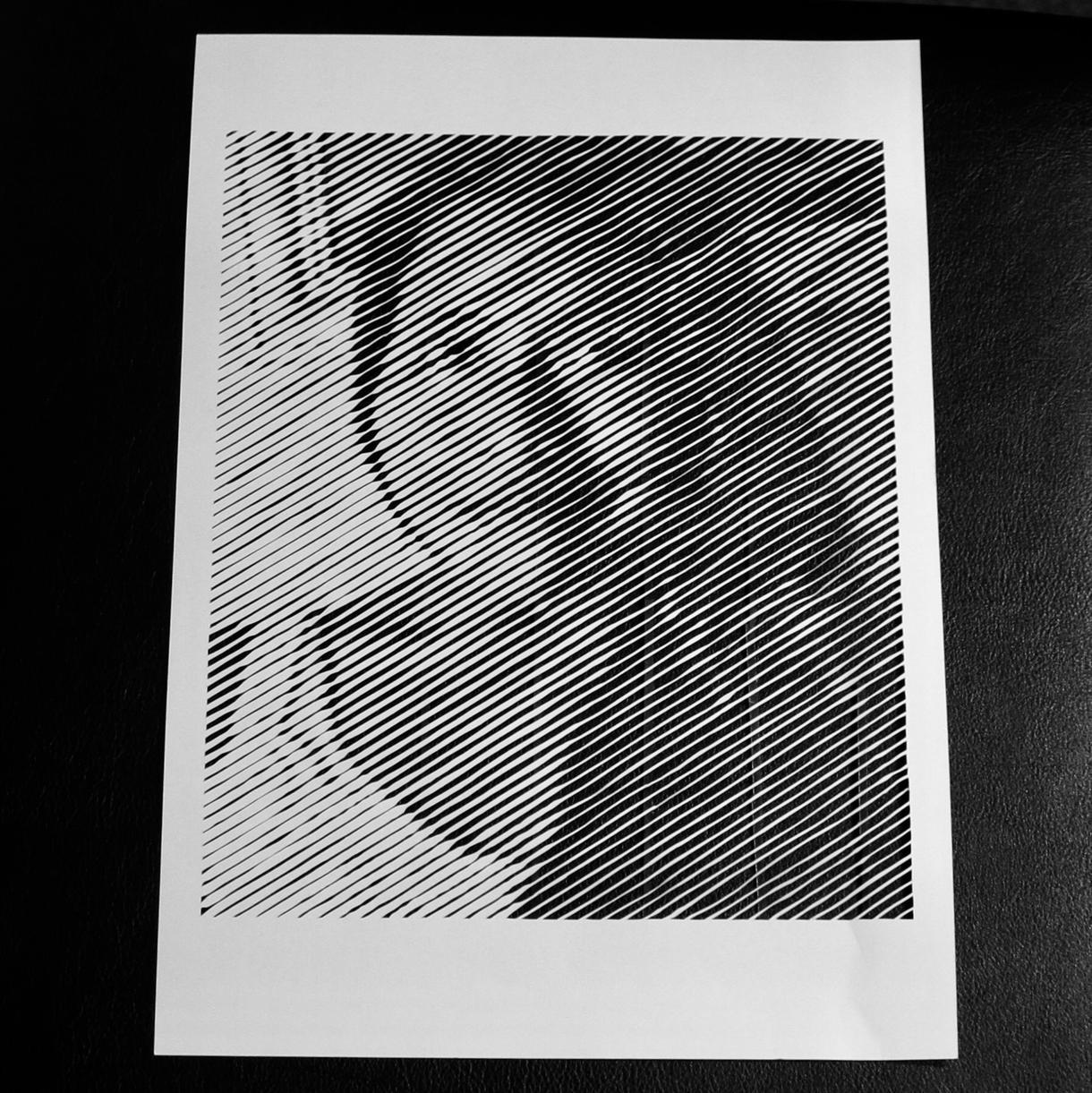 切り絵の下絵作成します お好きな写真を切り絵用下絵に編集します。