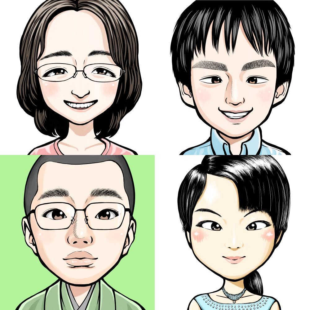 プロ漫画家がデフォルメした似顔絵描きます 心を込めて描かせて頂きます!SNSアイコン等にご利用ください