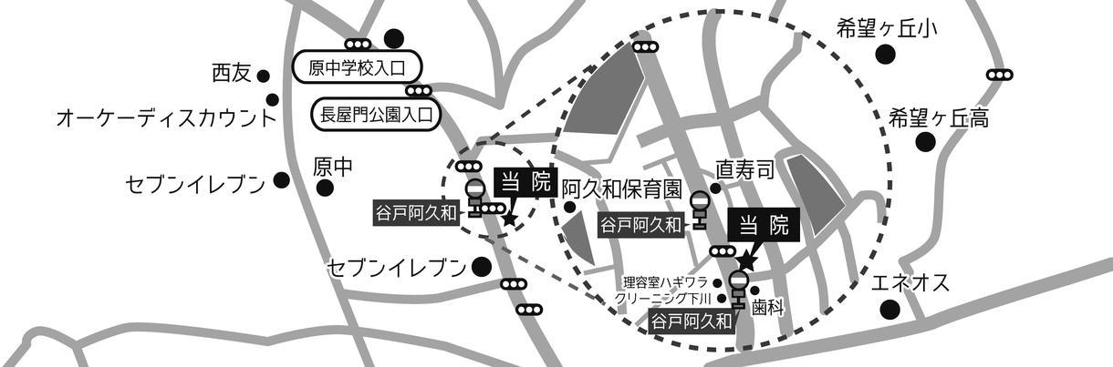 手書き地図から簡易地図を作成します イラレで作成!カラー、モノクロで選べます!