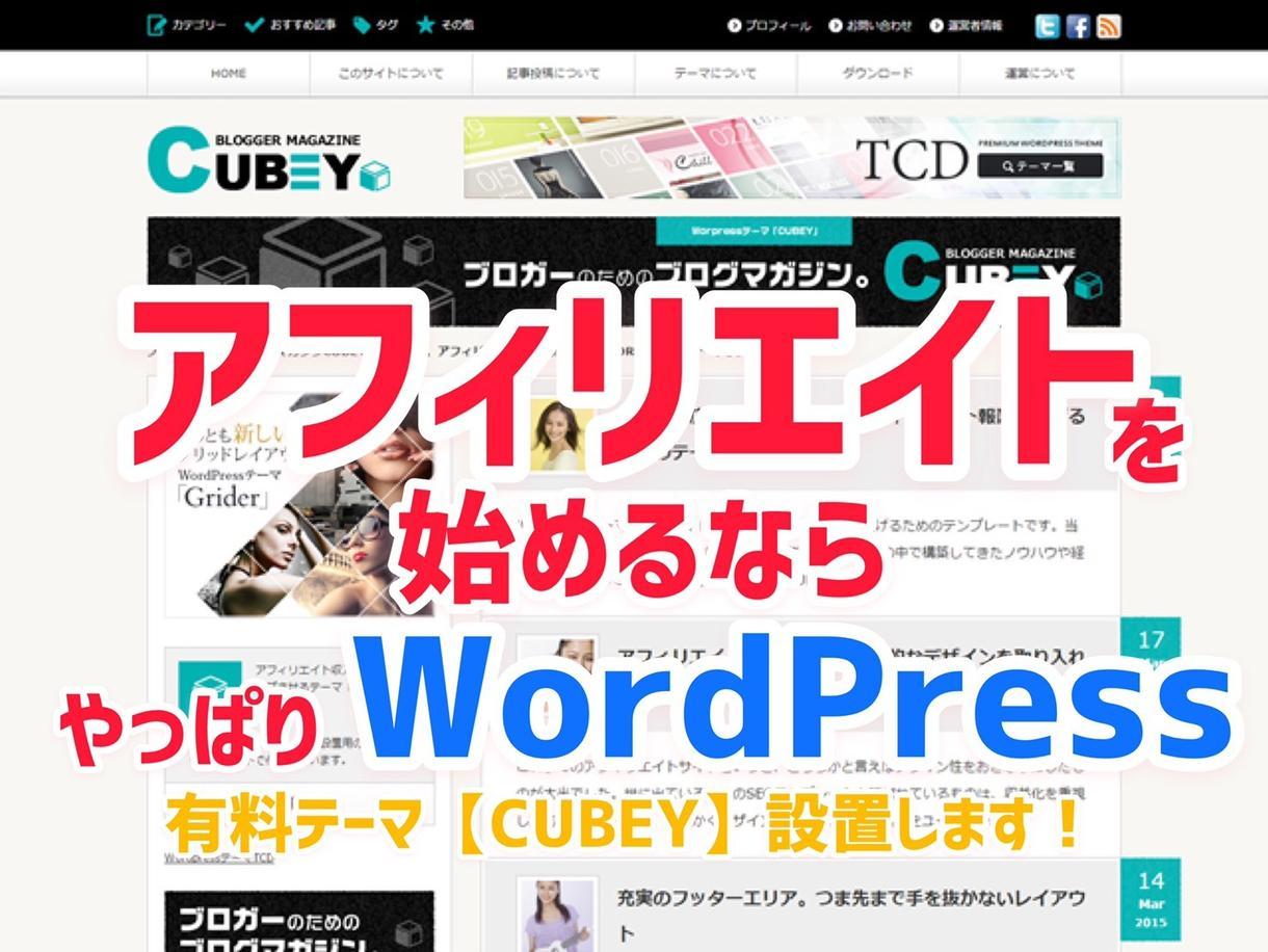 アフィリエイトに特化したテーマの設置サポートします WordPress有料テーマ導入でサイトの注目度UP! イメージ1
