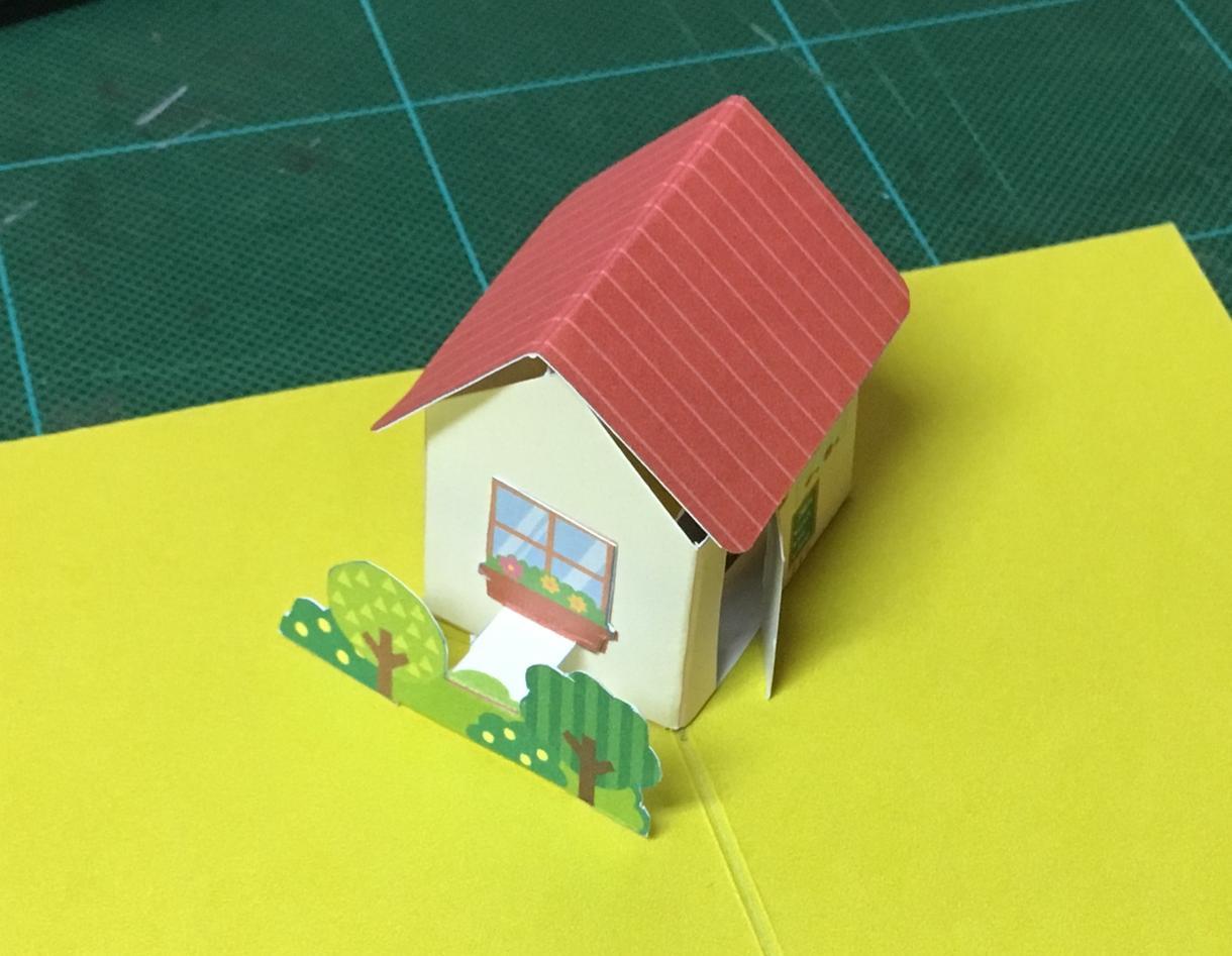 飛び出すカードの展開図を作成します オリジナルのPOPUPカードが作りたい方に。