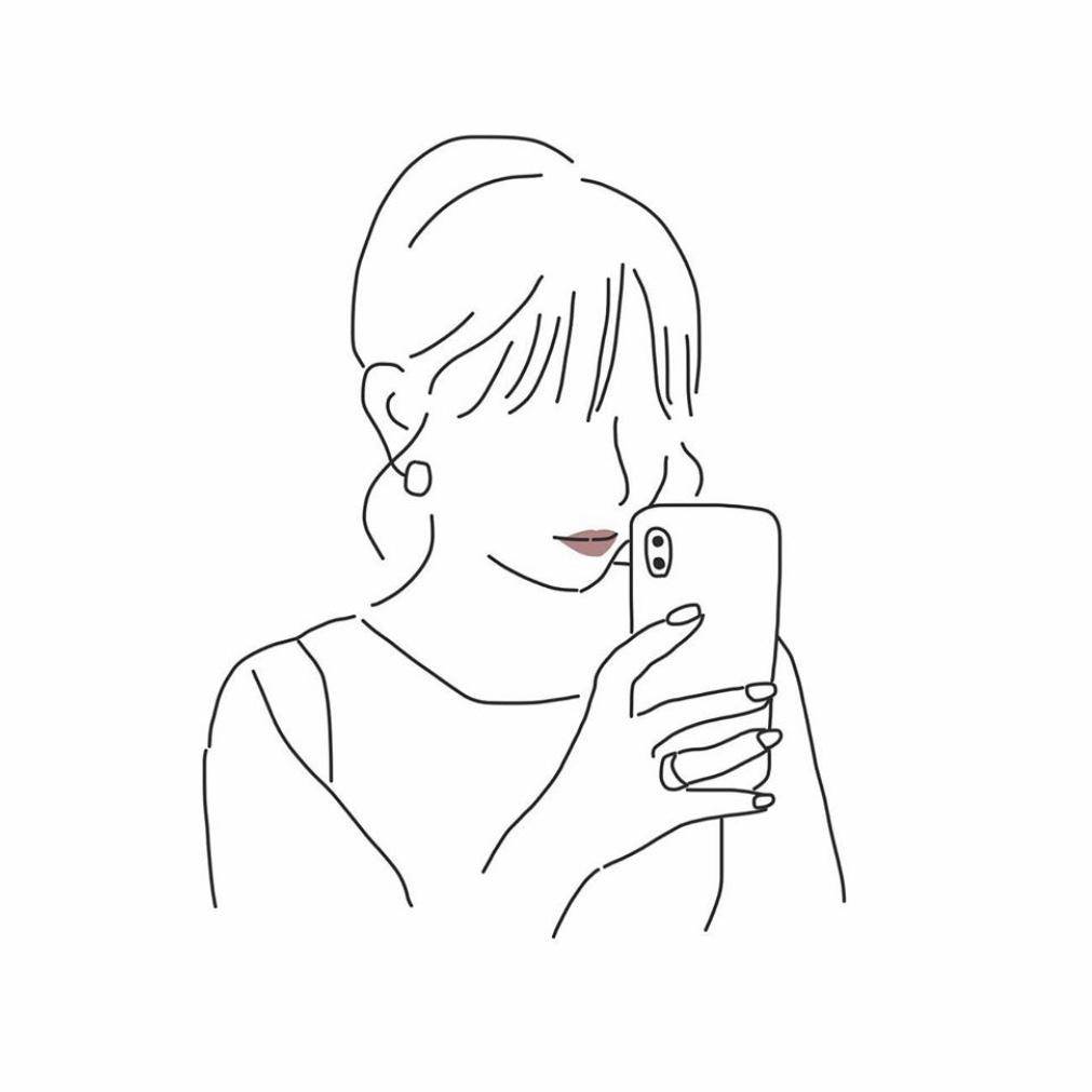 女の子 イラスト 線画 おしゃれ の最高のコレクション