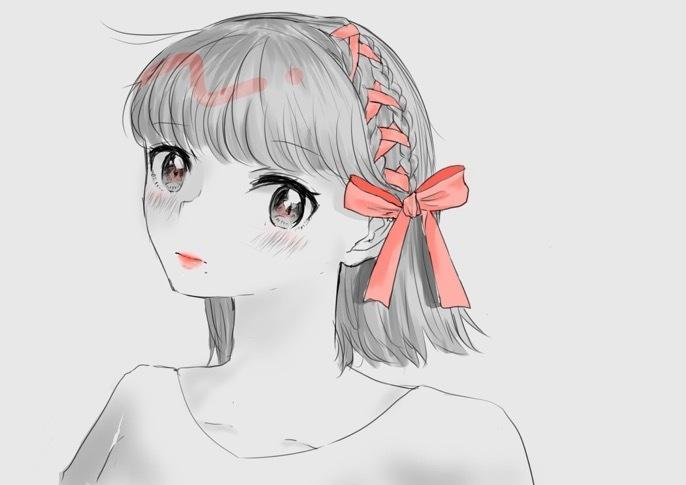 SNS用のアイコン等に♡女の子のイラスト描きます まずはお試し ワンコインで♡プレゼントにも!