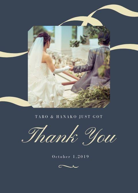 結婚式 サンクスカードを作成します ☆お祝い価格☆シンプル・おしゃれなカードが得意です