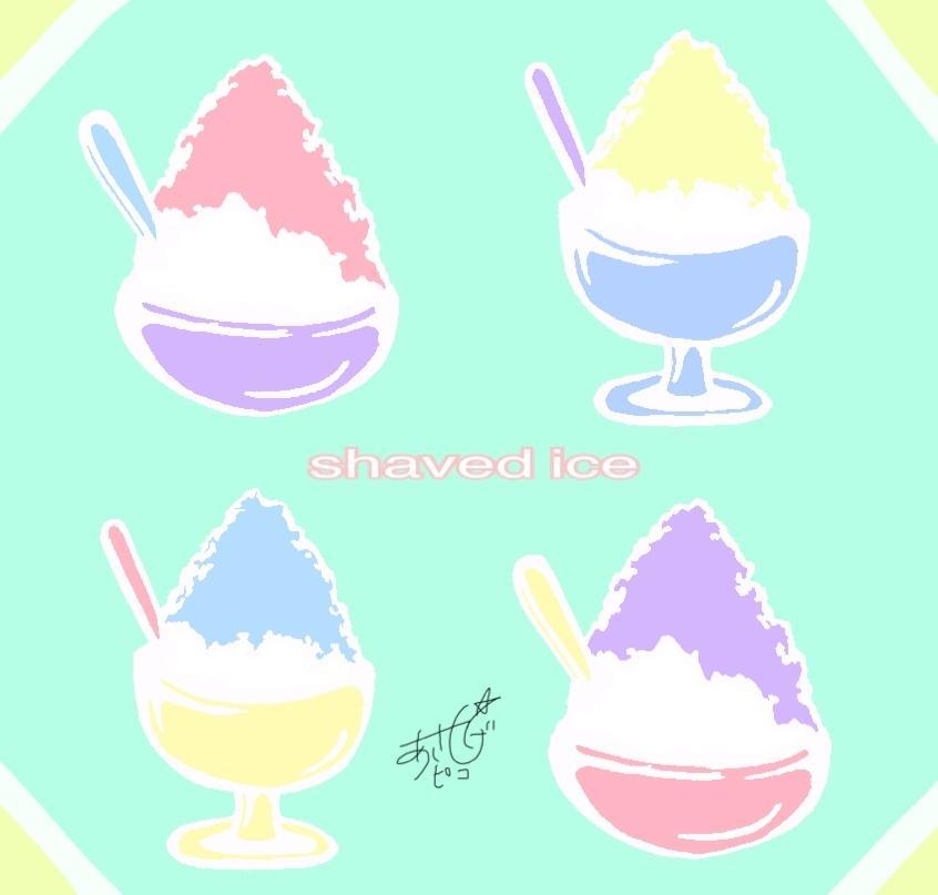 デフォルメされた食べ物のデザイン描きます ポップなパステルカラー!鮮やかな配色で目立つ事間違いなし!