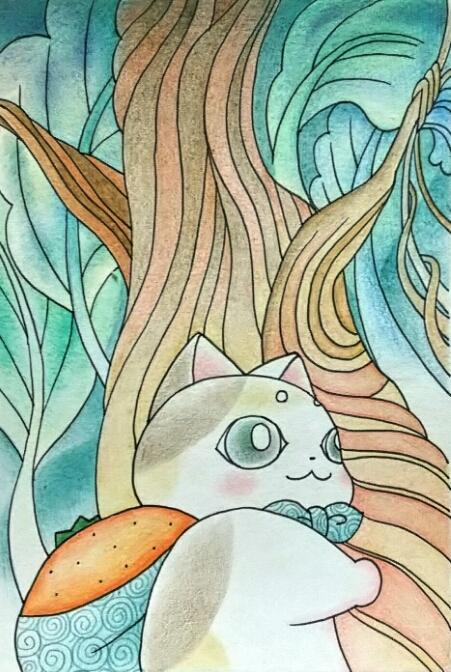 ポップなイラストを描きます 色鉛筆で描きます。モノクロも大丈夫です。