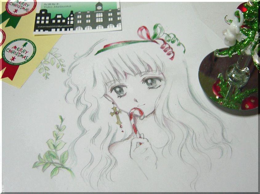 鉛筆画のイラストを描きます。