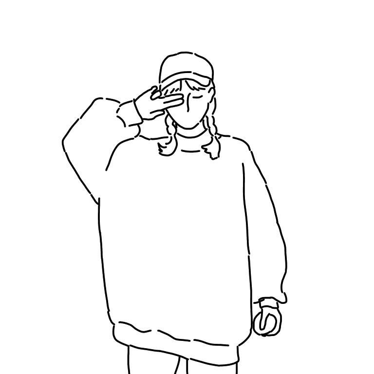 写真から人物のシンプルな線画を描きます お好きなお写真をSNSのアイコンなどにオススメのイラストに!