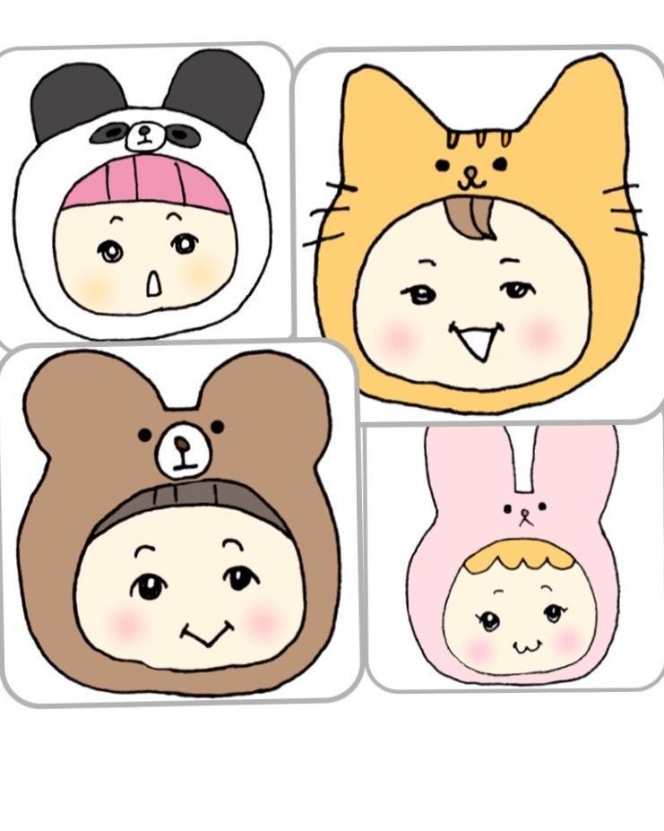 動物の着ぐるみをかぶった❁かわいい似顔絵描きます SNSのアイコンなどにもぜひ☆ イメージ1