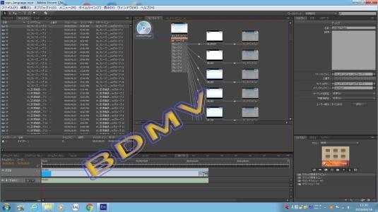 動画をBDMV化オーサリングします Adobe Encore CSを使用したプロ仕様
