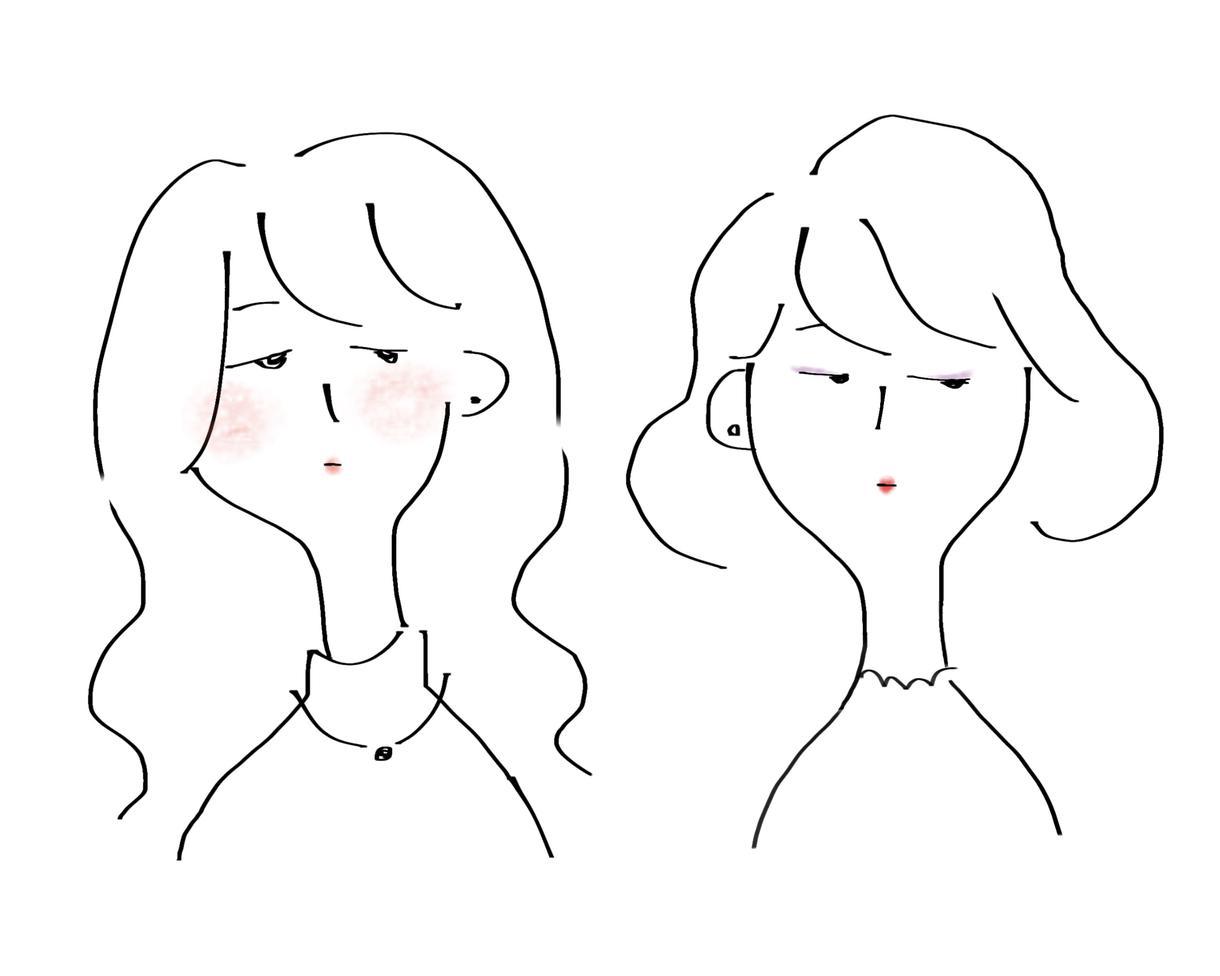 シンプルでオシャレなイラストを描きます 自分だけのキャラクターを作っちゃおう! イメージ1