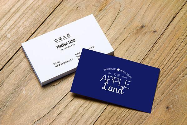 2色デザイン◆シンプルで美しいお名刺を制作します プロデザイナーがタイポグラフィーでミニマムデザイン名刺を提供
