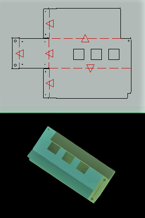 精密板金加工用のデータを作成致します シートメタルの助け人。見積相談OK!