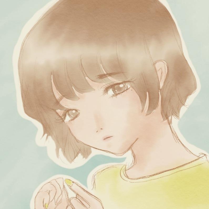 水彩タッチ☆ほんわか女の子のイラスト描きます SNSアイコンや名刺などにご利用可能です☆