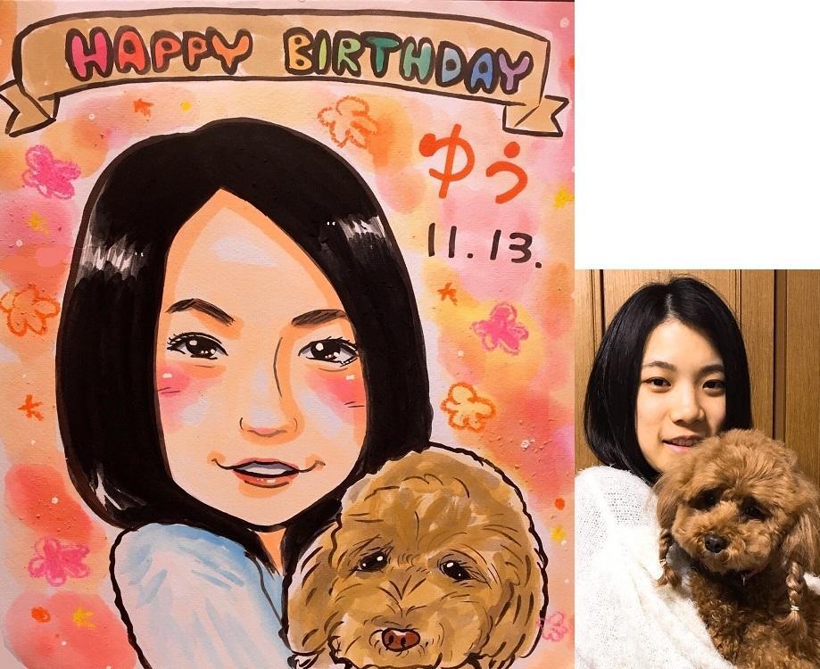 プロ制作!可愛くてかつ似ている似顔絵をお描きします ウェルカムボードや誕生日プレゼント等にいかがですか?