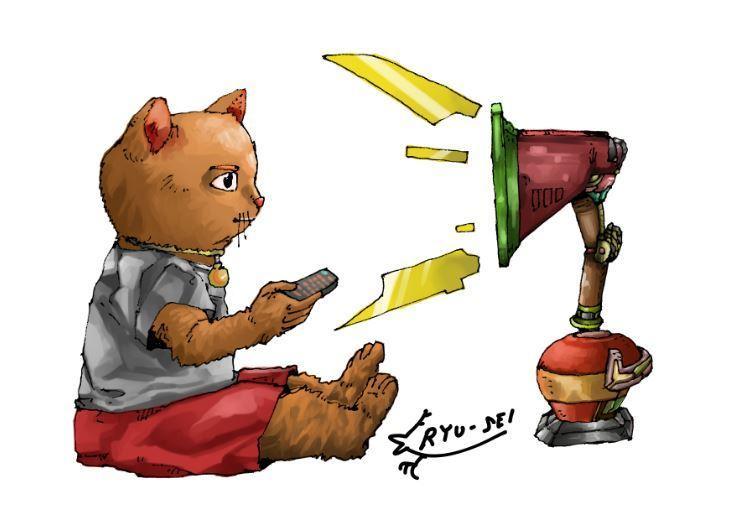 猫をテーマにしたポストカードイラスト描きます お客様が想像する猫イラストをお部屋に♪