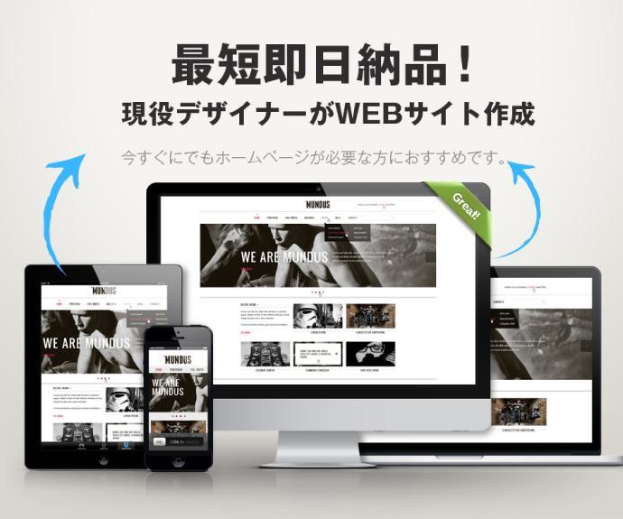 現役デザイナーが【最短即日納品】でサイト作成します 今すぐでにもホームページが必要な方にお勧めです。 イメージ1