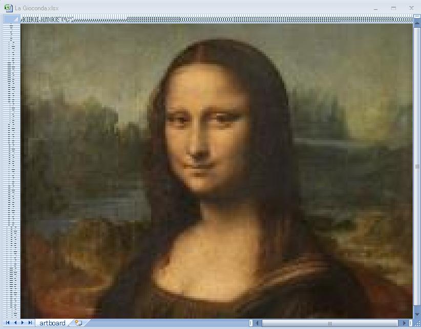 写真や画像からエクセルアートを作成します エクセルアートで誰かを驚かせよう。