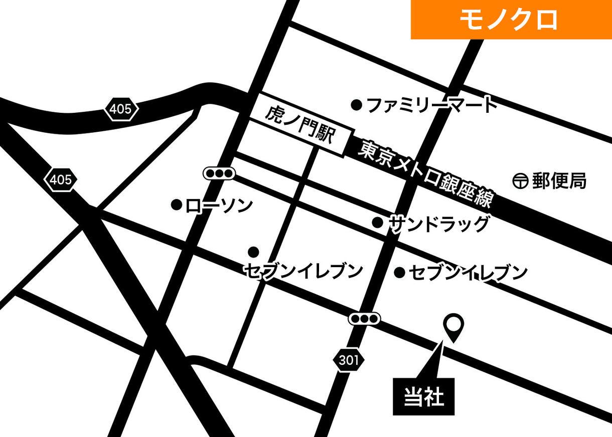 最短1時間!何度も修正OK!シンプル地図作成します 住所のみで簡単!現役デザイナーの高品質シンプル地図です!