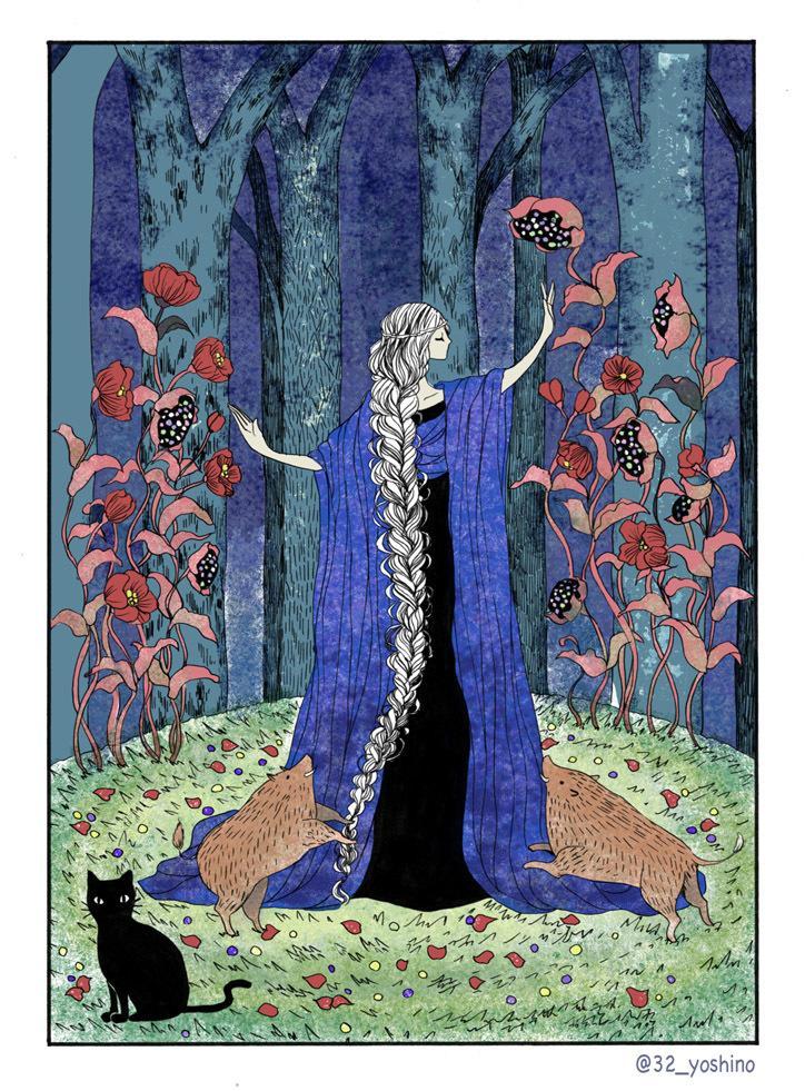 表紙や挿絵、ポストカードなどお描きします アンティーク・ファンタジック・レトロな雰囲気をお求めの方へ