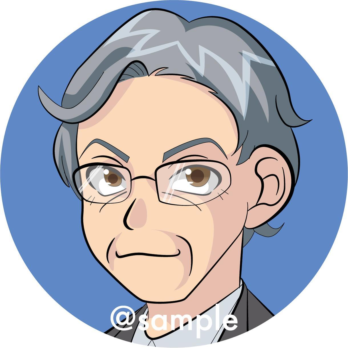 オリジナルアイコンのイラストをお描きします SNSや名刺のプロフィール画像などにご利用いただけます