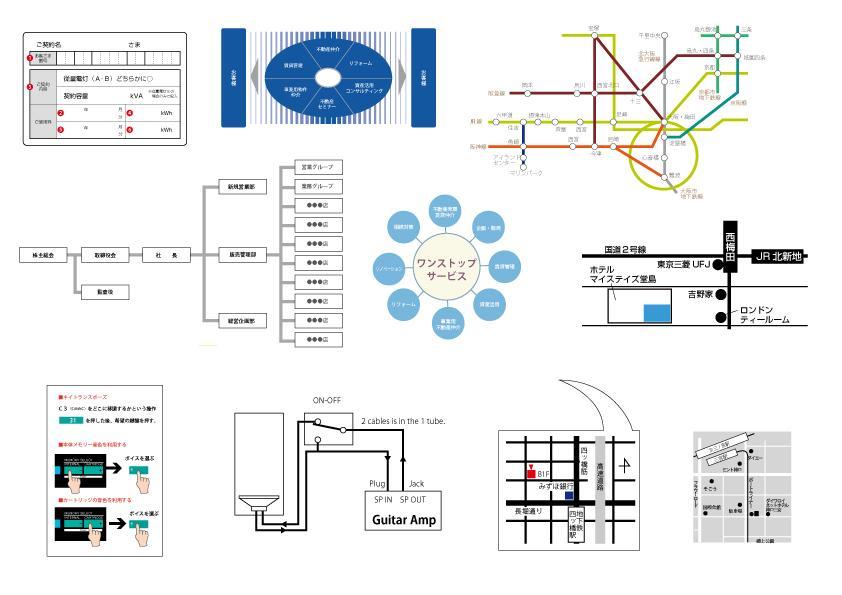 オフセット印刷用データとして使える図表を作成します 手書きやエクセルその他の図表を印刷データにしたい方へ
