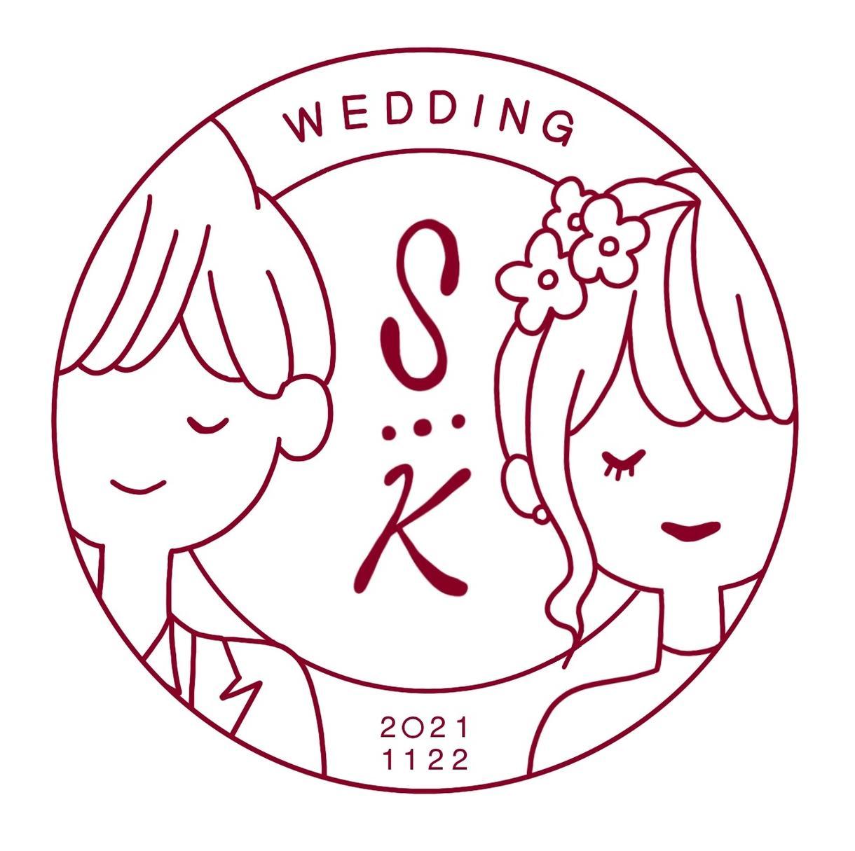 結婚式に使えるウェディングロゴを4種作成します シンプルでおしゃれなあなただけのオリジナルロゴを作成! イメージ1