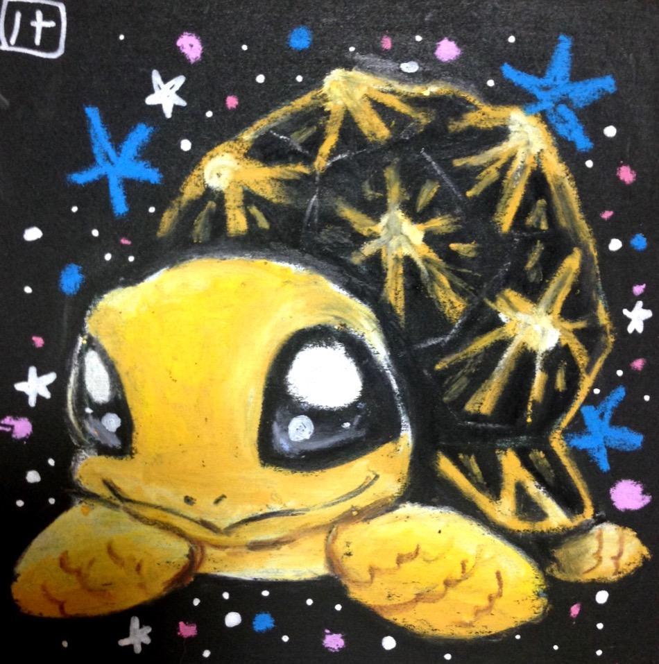 プロチョークアーティストがポップでキュートなペットの似顔絵を描きます