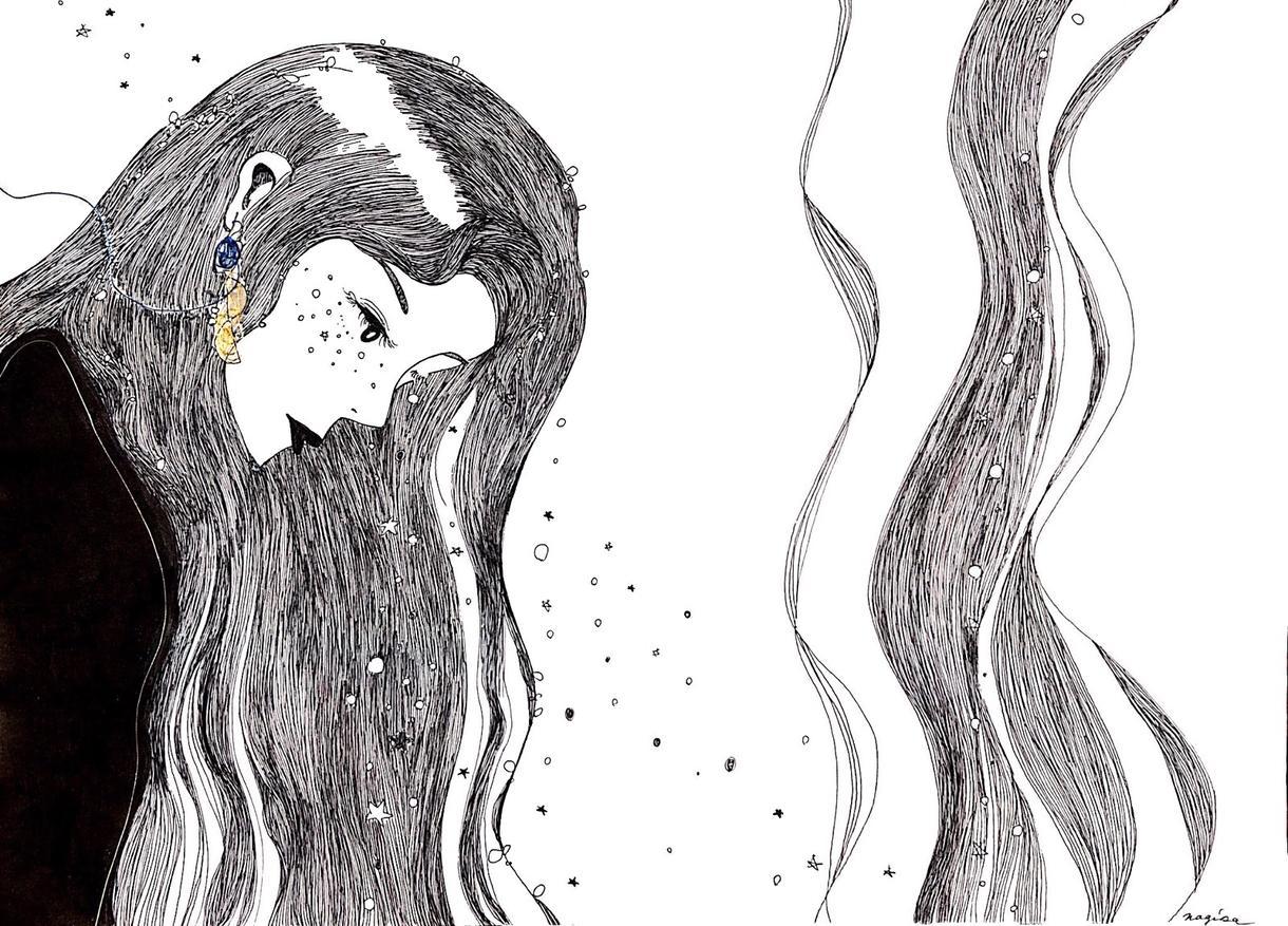女の子のアイコン、イラストを描きます ポップな絵から、キレイな絵まで。