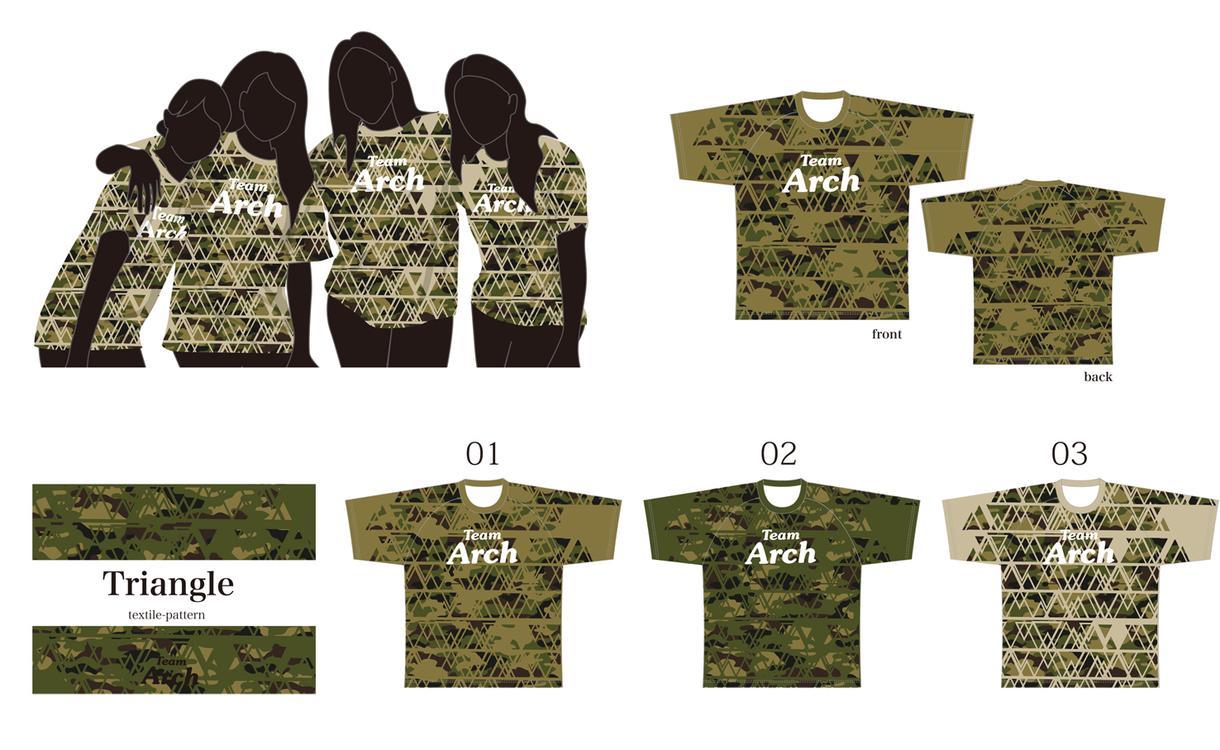 チームTシャツをデザインします アレンジ迷彩柄(ベースデザイン) イメージ1