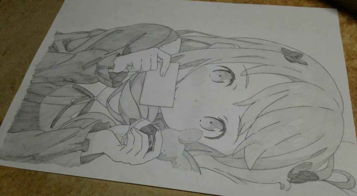希望のアニメ、漫画のキャラ等を鉛筆のみで模写します 使用するのは鉛筆のみあなただけのモノクロイラストを描きます