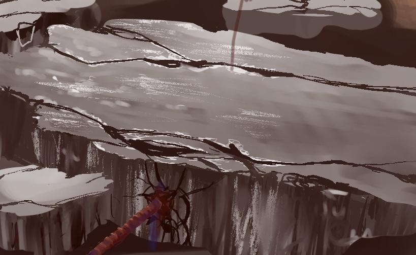 背景描きます TRPGやオリジナルの絵の背景の素材として