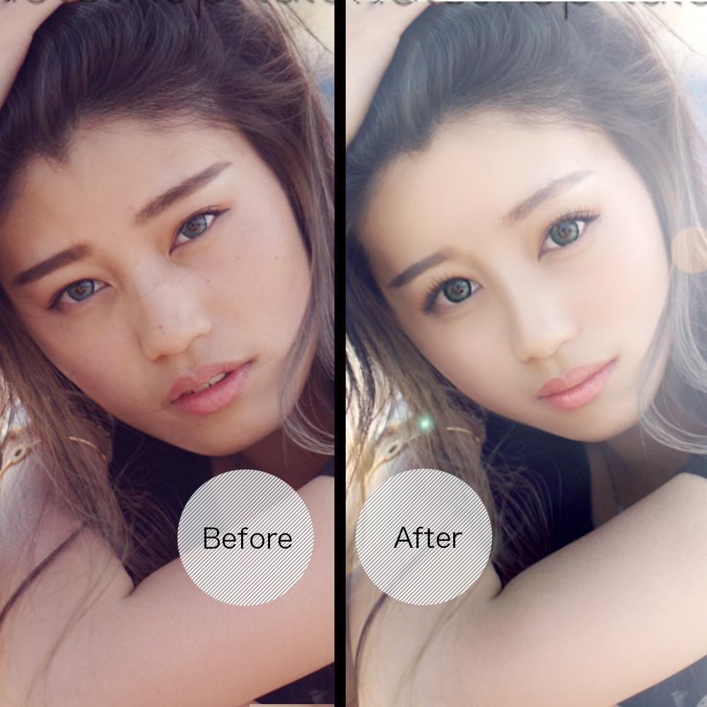 日本トップクラスのレタッチ技術で完全サポートします 人物写真も、加工が当たり前の時代です。わたしにおまかせ