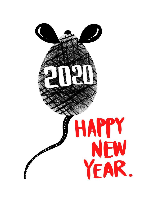 2020年度の年賀状デザインいたします 早い!安い!あなたのオリジナルデザインをスピーディーに提案