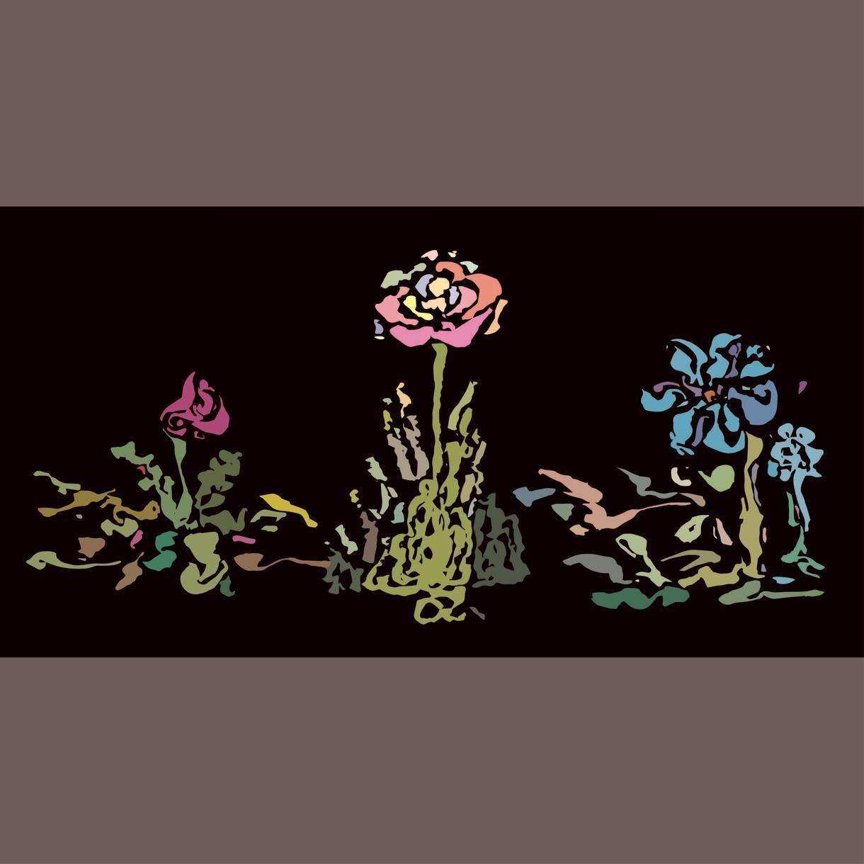 花柄の絵を描きます 花柄のイラストを使って、デザインをしたい方に。