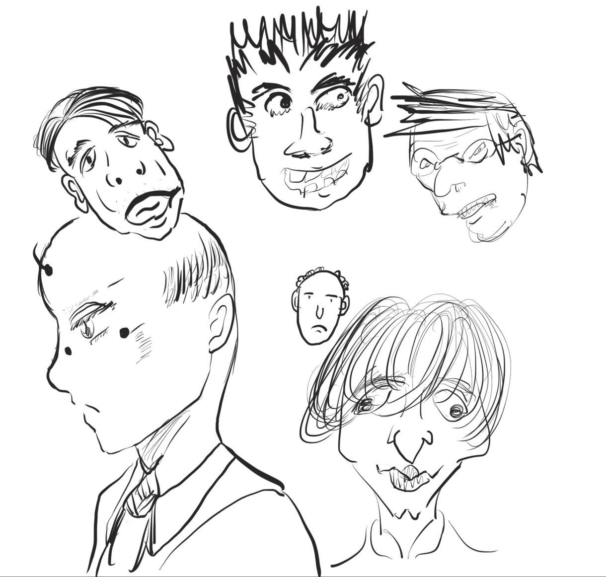 シンプルなおじさんのイラストを描きます 秒で描く絶妙にきもいおじさんたち