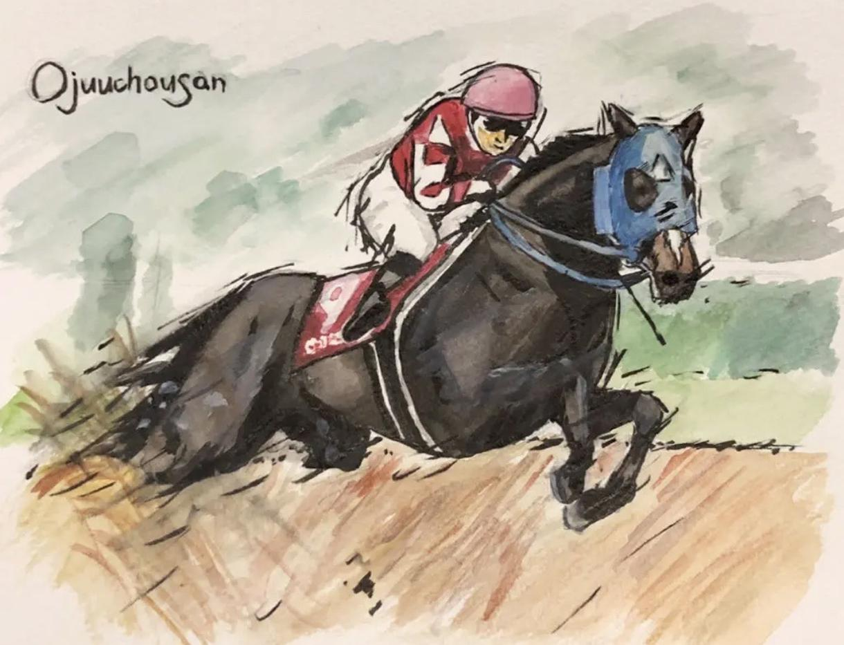 競走馬の水彩画を描きます あなたの好きな競走馬、応援している競走馬の水彩画を描きます。 イメージ1
