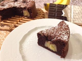 丸ごとバナナのガトーショコラをお教えします 板チョコ一枚でできるバナナのガトーショコラのレシピ