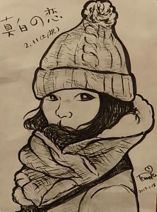 白黒似顔絵筆ペンで描きます SNSでの自画像や大切な人への贈り物にいかがでしょうか